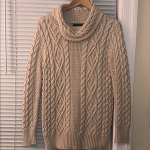 Zara cable knit long sweater